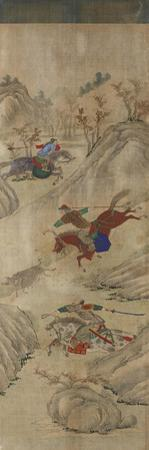 Hunting Scene (3 Riders and Boar)