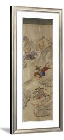 Hunting Scene (3 Riders and Boar)--Framed Giclee Print