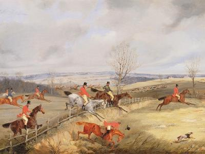 Hunting Scene, Drawing the Cover-Henry Thomas Alken-Giclee Print