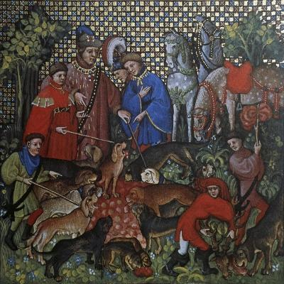 Hunting Scene, Illustration from Livre De Chasse, Medieval Treatise on Hunting--Giclee Print