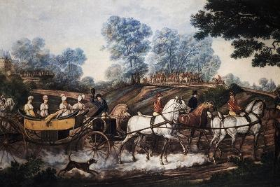 Hunting Scene, Print, France, 19th Century--Giclee Print