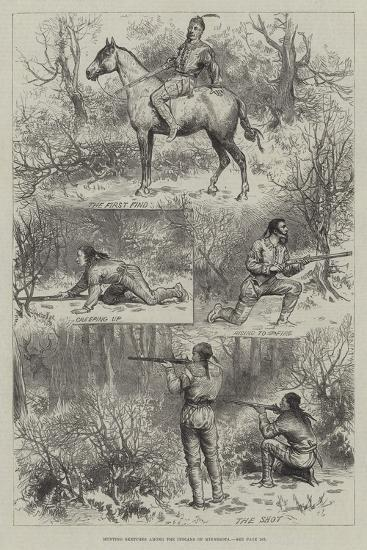 Hunting Sketches Among the Indians of Minnesota--Giclee Print