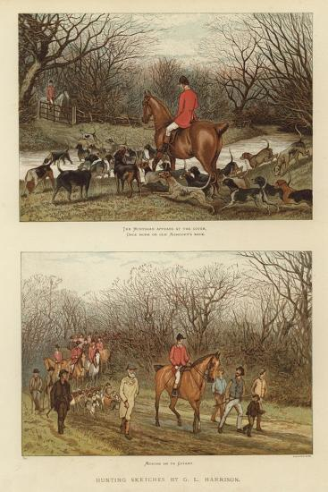 Hunting Sketches by G L Harrison--Giclee Print