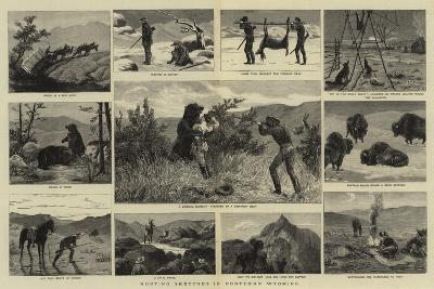 Hunting Sketches in Northern Wyoming--Giclee Print