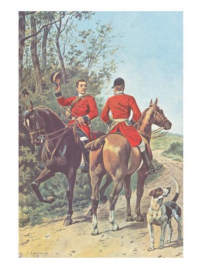 Hunting Team (1892)-J. Condamy-Art Print