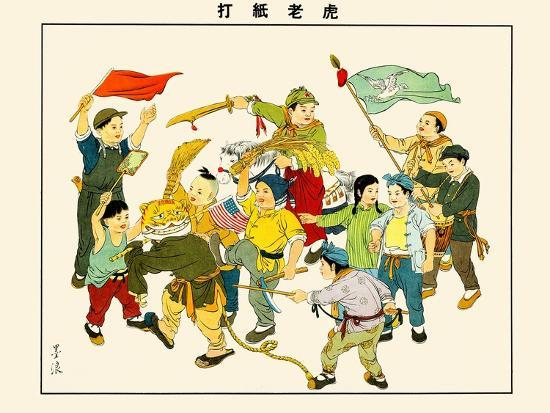 Hunting The American Paper-Tiger-Mai Long-Art Print