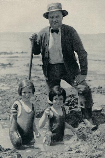 'Hunting the Elusive Geoduck on Puget Sound', c1935-Unknown-Photographic Print