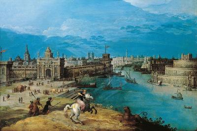 Hunting the Lion at the Gates of Babylon-Adriaen I van Nieulandt-Giclee Print