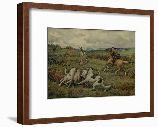 Hunting with Borzois, 1937-Ernest Ernestovich Lissner-Framed Giclee Print
