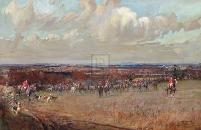 Hunting-Lionel Edwards-Premium Giclee Print
