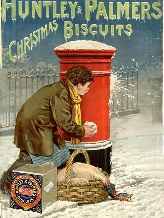 Huntley and Palmers, Biscuits Post Boxes, Snowballs, UK, 1890--Giclee Print