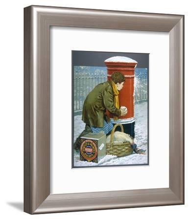 Huntley Delivery Boy--Framed Giclee Print
