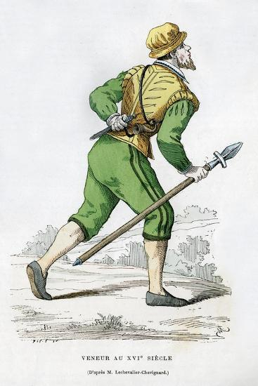 Huntsman, 16th Century (1882-188)-Edmond Lechevallier-Chevignard-Giclee Print