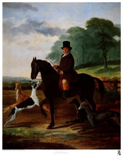Huntsman with his Greyhounds-William Henry Knight-Art Print