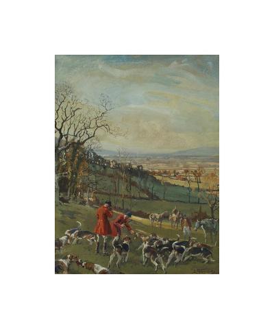 Huntsmen and Hounds-Lionel Edwards-Premium Giclee Print