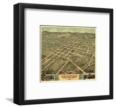 Huntsville, Alabama - Panoramic Map-Lantern Press-Framed Art Print