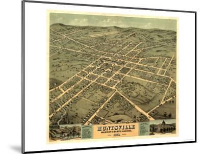 Huntsville, Alabama - Panoramic Map-Lantern Press-Mounted Art Print