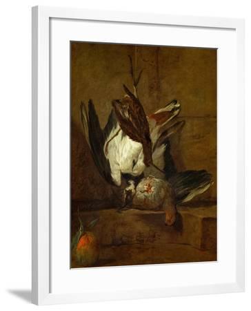 Huppoe, Partridge, Woodcock, and Seville Orange, 1732-Jean-Baptiste Simeon Chardin-Framed Giclee Print