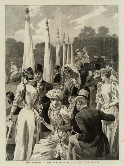 Hurlingham in the Season, Watching the Pony Racing--Giclee Print