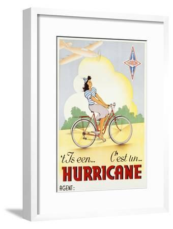 Hurricane Bicycle Advertisement Poster