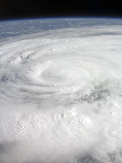 Hurricane Ike Covering More than Half of Cuba, from International Space Station-Stocktrek Images-Photographic Print