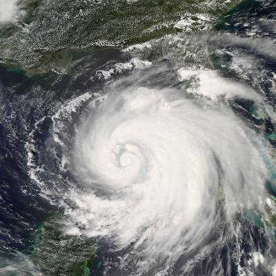 Hurricane Ike, from International Space Station-Stocktrek Images-Photographic Print