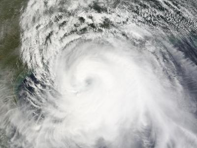Hurricane Ike, from International Space Station-Stocktrek Images-Photographic Print