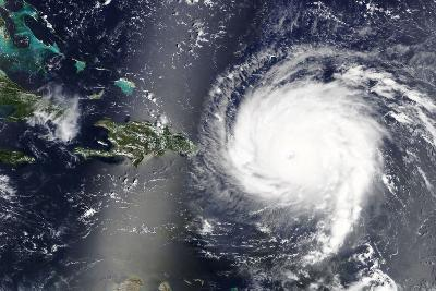 Hurricane Irma is Heading towards the Caribbean Sea - Elements of this Image Furnished by NASA-lavizzara-Photographic Print