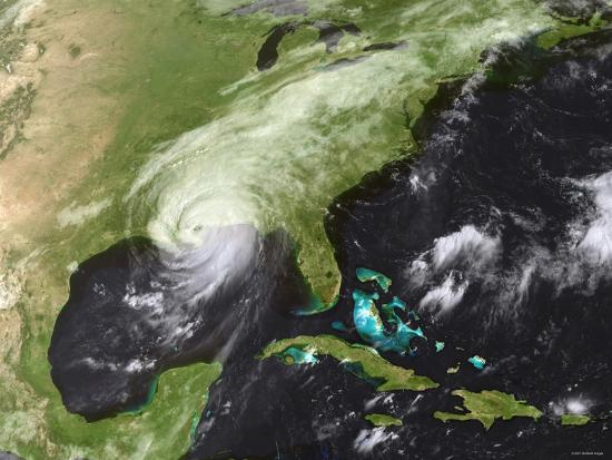 Hurricane Katrina Moved Ashore Over Southeast Louisiana and Southern Mississippi on August 29, 2005-Stocktrek Images-Photographic Print