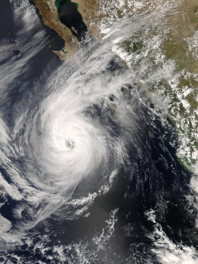 Hurricane Norbert Off Mexico, October 10, 2008-Stocktrek Images-Photographic Print
