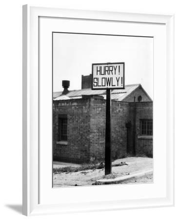 'Hurry! Slowly!'-J. Chettlburgh-Framed Photographic Print
