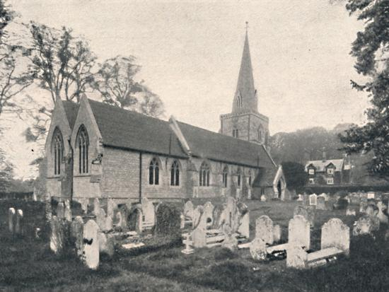 'Hursley Church and Rectory', 1904-Unknown-Photographic Print