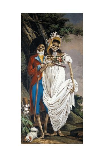Husband and Wife Nobles, from Cycle of Scenes of Living Skeletons-Paolo Vincenzo Bonomini-Giclee Print