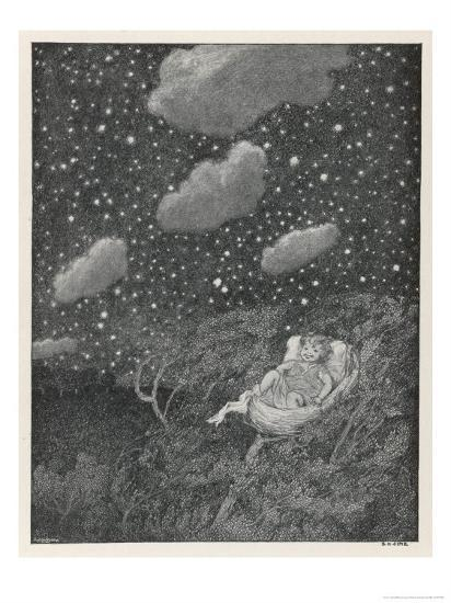 Hush-A-Bye Baby on the Tree Top-S.h. Sime-Giclee Print