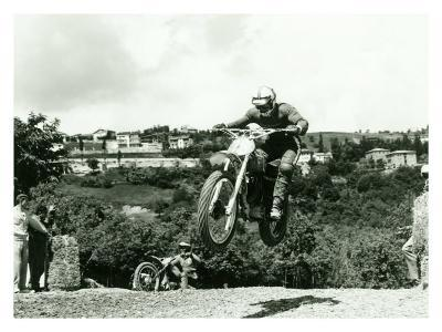 Husqvarna MX Motorcycle-Giovanni Perrone-Giclee Print