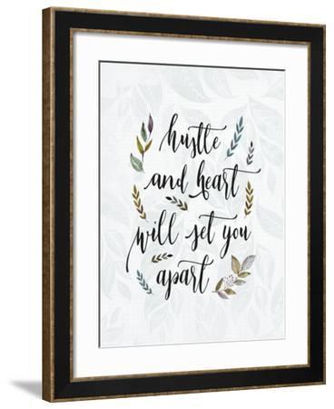 Hustle and Heart-Tara Moss-Framed Art Print
