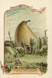 Hut of a Kanak Chief, New Caledonia