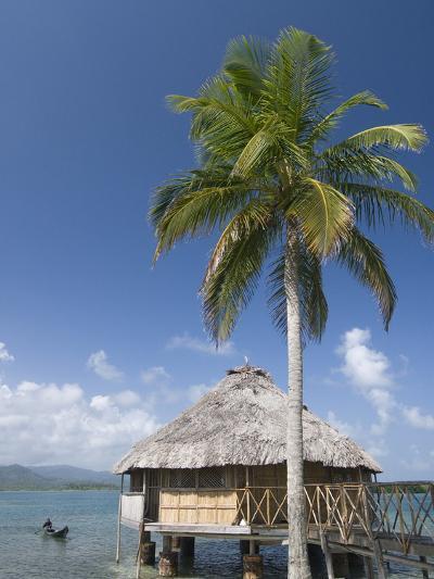Hut Over Water, Yandup Island, San Blas Islands (Kuna Yala Islands), Panama, Central America-Richard Maschmeyer-Photographic Print
