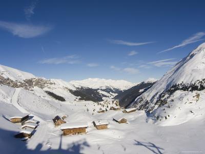 Huts, Hintertux Glacier, Mayrhofen Ski Resort, Zillertal Valley, Austrian Tyrol, Austria-Christian Kober-Photographic Print