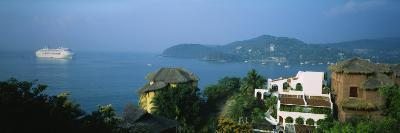 Huts on a Hilltop, Zihuatanejo, Guerrero, Mexico--Photographic Print