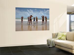 Aerobics Class on Praia Do Ponta Negra Beach by Huw Jones