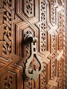 Door Detail, Musee De Marrakesh, Place Ben Youssef by Huw Jones