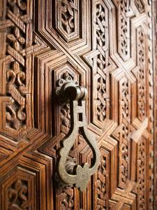 Door Detail, Musee De Marrakesh, Place Ben Youssef by Huw Jones