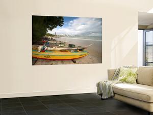 Fishing Boats, Praia Do Ponta Negra Beach by Huw Jones