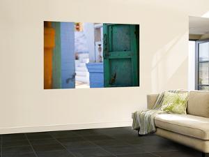 Green Door and Blue Walls by Huw Jones