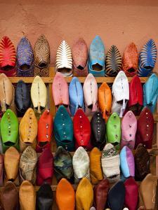 Traditional Moorish Slippers, Place Ben Youssef by Huw Jones