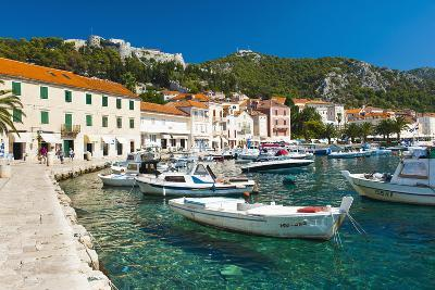 Hvar Harbour and Fortica (Spanish Fortress)-Matthew Williams-Ellis-Photographic Print