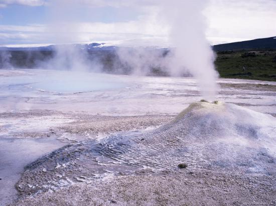 Hverquellir Geothermal Area, Interior Highlands, Iceland, Polar Regions-Geoff Renner-Photographic Print