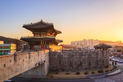 Hwaseong Fortress, Traditional Architecture of Korea in Suwon, South Korea- PKphotograph-Photographic Print