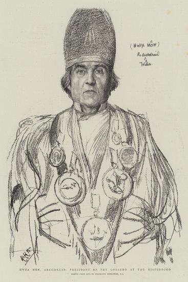 Hwfa Mon, Archdruid, President of the Gorsedd at the Eisteddfod-Hubert von Herkomer-Giclee Print